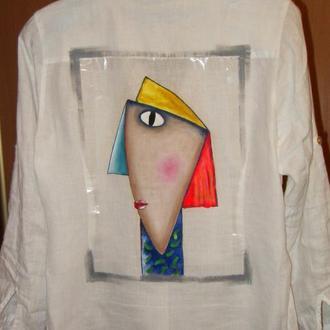 Рубашка с росписью