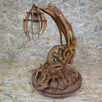 """Декоративна деревяна  лампа """"SCORPIO"""""""
