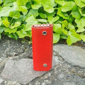 Кожаная ключница long (red)