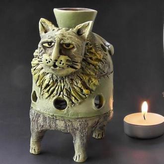 Аромалампа кот ароматерапия