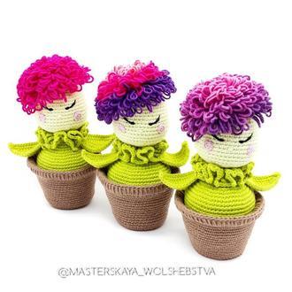 МК Весенний цветочек. МК цветок. Вязаный цветок. Описание вязания. Мастер-класс цветок