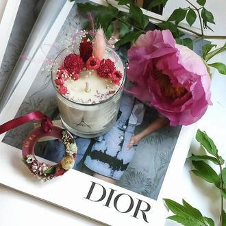 "Соевая парфюмированная свеча ""MISS #DIOR CHERIE""."