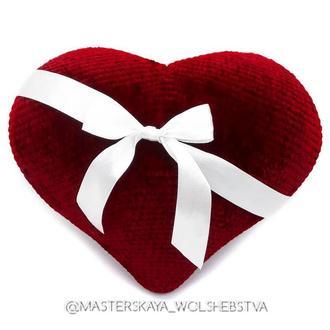 Вязаное сердце. Сердце Игрушка для фотосессии. Интерьерная игрушка. Декор. День влюбленных