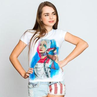 """Женская футболка с росписью """"Harley Quinn"""""""