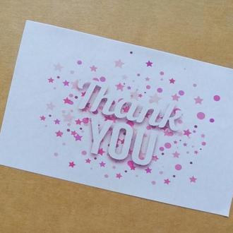 """Наклейки """"Thank you"""" 21шт/лист"""