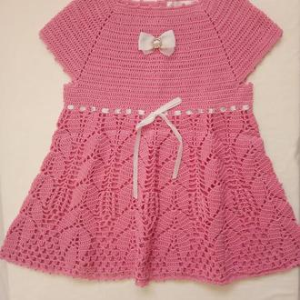 Детское платье вязаное крючком