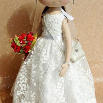 Куклы по фотографии. Пара кукол на свадьбу. Кукла невеста.