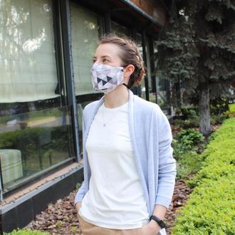 Маска для лица - Киев, многоразовые трёхслойные маски с кармашком для фильтров Ужгород