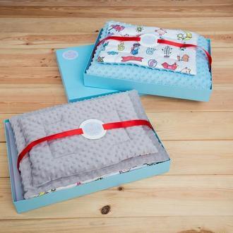 Плюшевый набор «Колискай» с пледиком и подушечкой для мальчиков