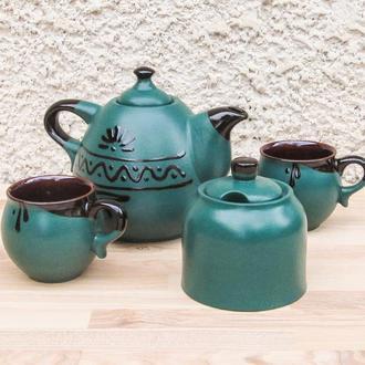Чайный набор Капля на 2 лица зеленый