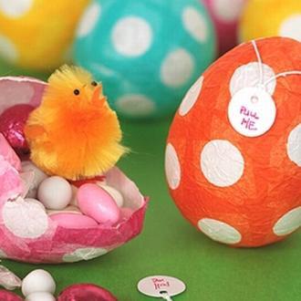 Пасхальні яйця з цукерками