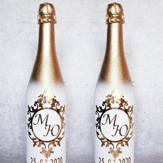 Стильное шампанское на свадьбу