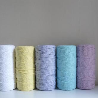 Шнур для макраме и плетения  3 и 4 мм, 100 метров