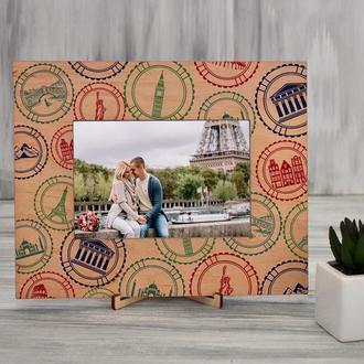 Рамка для фото с цветной печатью «Путешествие»