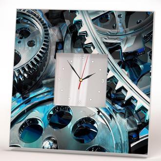 """Часы с рисунком """"Стимпанк шестеренки"""""""