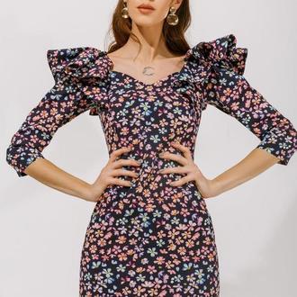 Платье-мини с воланами