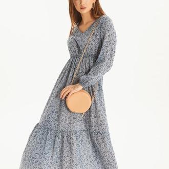 Легкое цветочное платье. Женское платье макси РАЗНЫЕ ЦВЕТА
