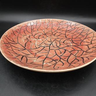 тарелка керамическая в глазури.