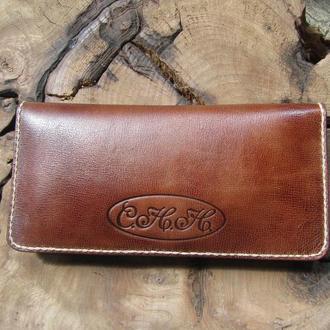 женский длинный  кожаный кошелек,женский кошелек на заказ,подарок жене,сестре,маме