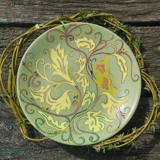 Декоративная тарелка Оливковая, украшение для дома