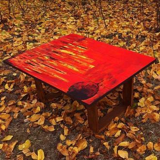 """Дизайнерський журнальний столик """"Схід чорного Місяця"""""""