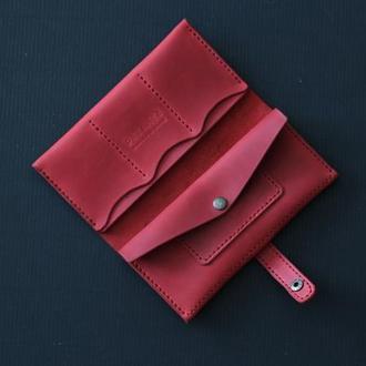 Кожаный кошелек Long Wallet L1
