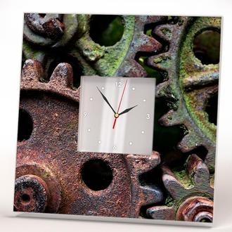 """Дизайнерские часы """"Стимпанк. Ржавые шестеренки механизма"""""""
