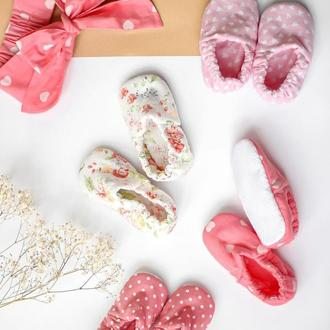 Мокси с антиковзкою подошвой, текстильная обувь для детей