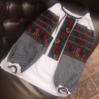 Стильная борщевская рубашка. Вышиванка от TM SavchukVyshyvka