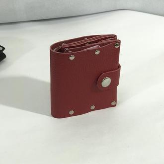 Бумажник Rivet красный