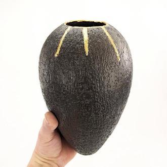 """Современная керамическая ваза, """"Золотые капли"""", 24 см высота,арт.№8"""