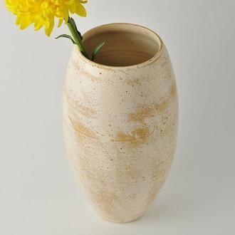 Большая ваза для цветов в деревенском стиле, Raku pottery clay vessel, 27 см высота,арт.№9