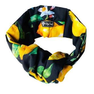 Тюрбан ,,Яркие лимоны,,🍋 повязка обруч, повязка на голову