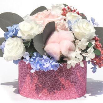 """Композиция из стабилизированных цветов  """"Summer flowers"""""""