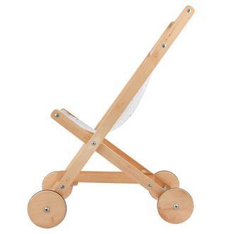 Колясочка-трость для кукол, деревянная