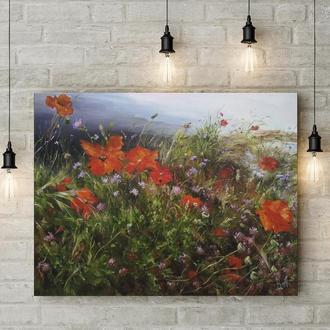 "Картина маслом ""Весна на Кипре"" 35х45 см. холст, масло"