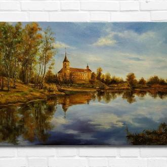 """Картина маслом """"Осенний ясный день"""", 30х45 см. холст, масло"""