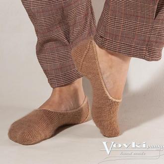 Следки вязаные, носки короткие, тапочки вязаные