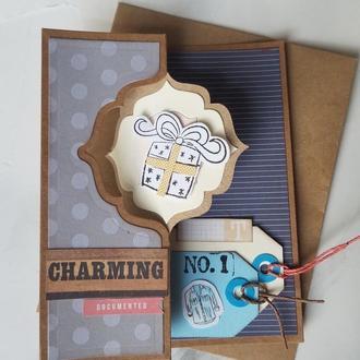 Поздравительная открытка для мужчины Charming