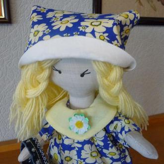 Кукла Снежка +2 комплекта одежды+сумочка