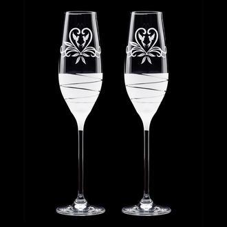Свадебные элитные бокалы с напылением (арт. S1)