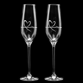 Свадебные элитные бокалы с гравировкой и стразами Swarovski (арт. S7)