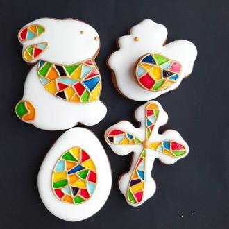 Пасхальный набор  Витражная роспись