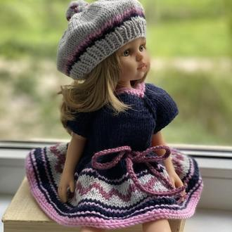 Вязаная одежда для кукол Паола Рейна, Наряд для Паолы Рейна, Вязаное Платье для куклы Паола Рейна