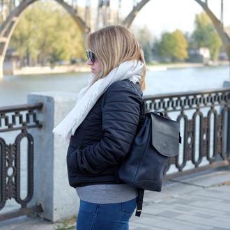 Кожаный рюкзак для девушки