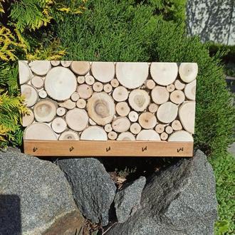 Деревянная ключница, вешалка для ключей
