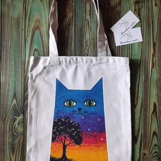 """Еко-сумка """"Котик"""" 0503"""