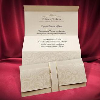 Элегантные свадебные пригласительные (арт. 2619)