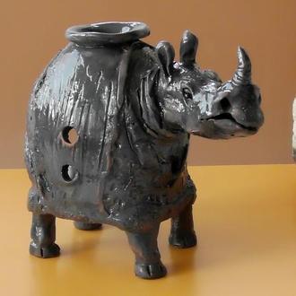 Аромалампа Носорог керамика