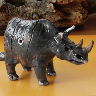 Свистулька носорог керамика